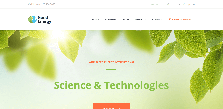 Good Energy WordPress Tema