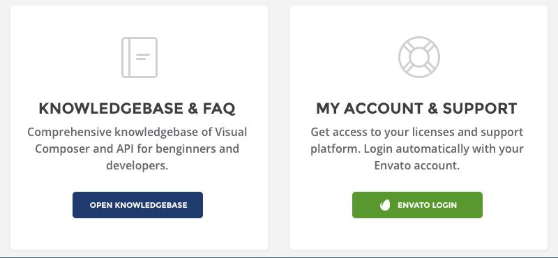 Visual Composer Support Portal Design