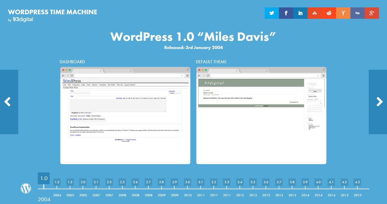 WordPress Zaman Makinesi